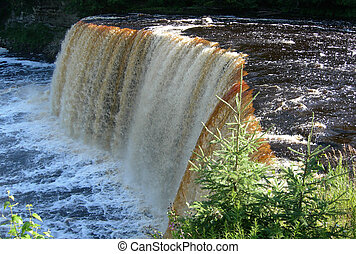 Scenic Michigan waterfall
