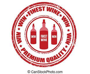Finest wine - stamp