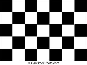 Formula One Flag - formula black flag vectorial illustration...