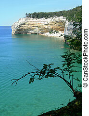 Scenic Michigan lakes - Emerald waters at Pictured Rocks...