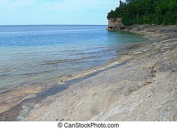 Scenic Michigan lakeshore
