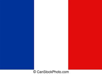 Flag Of France - the flag of france over white with no pole