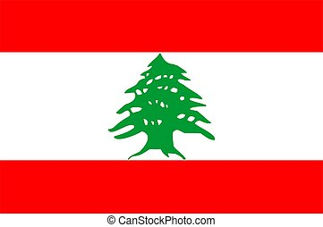 Lebanon Flag - 2D illustration of the flag of Lebanon