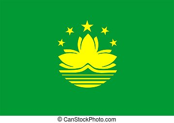 Macau Flag - 2D illustration of the flag of Macau vector