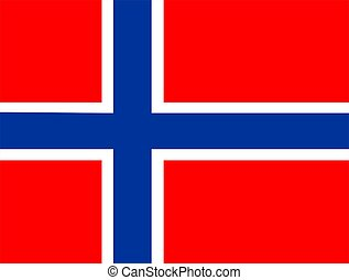 Flag Of Norway - 2D illustration of the flag of Norway...