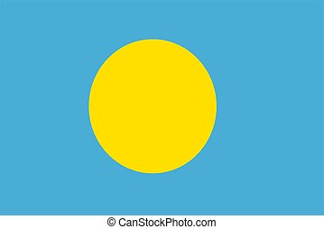 Flag Of Palau - 2D illustration of the flag of Palau vector