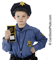 This is the Police! - An adorable young elementary boy...