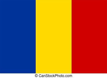 flag of Romania - 2D illustration of the flag of Romania...