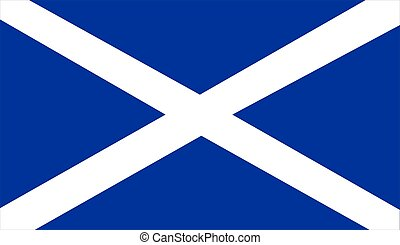 Flag Of Scotland - 2D illustration of the flag of Scotland
