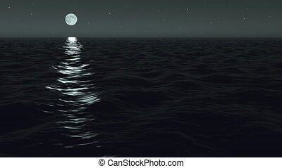 Ocean Night Moonrise - Using the same cinema-quality 3D...