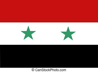 Flag Of Syria - 2D illustration of the flag of Syria vector