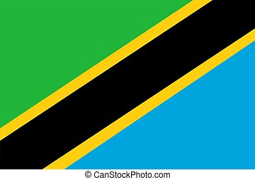 Tanzania Flag - 2D illustration of the flag of Tanzania...