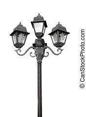old street lamp on white background