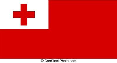 Tonga Flag - 2D illustration of the flag of Tonga vector