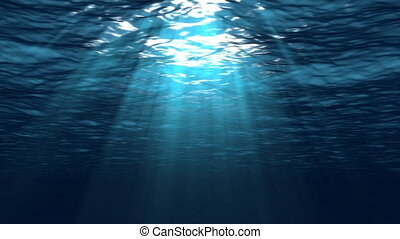 Underwater With Sun Rays - Using the same cinema-quality 3D...