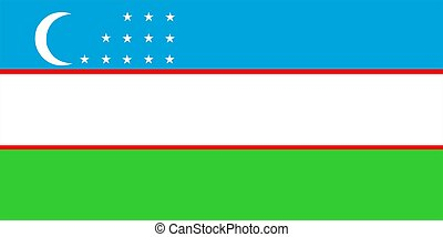 Uzbekistan Flag - 2D illustration of the flag of Uzbekistan...