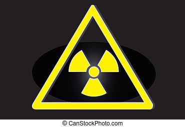 Radiation hazard symbol sign of radhaz threat alert icon