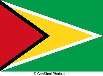 Guyana Flag - 2D illustration of the flag of Guyana vector