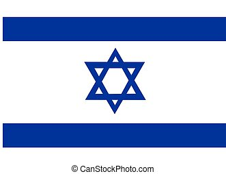 Israel Flag - 2D illustration of the flag of Israel vector