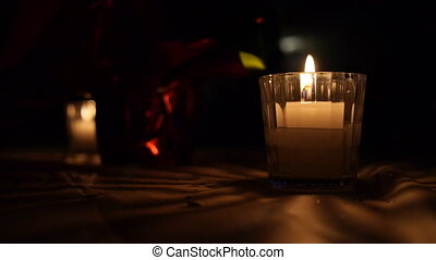 Decorative Candles Background - Decorative candles on table...