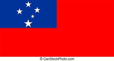 Samoa Flag - 2D illustration of the flag of Samoa vector