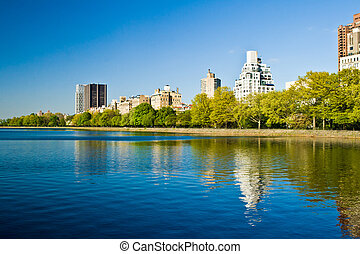 Central Park Lake, New York City US