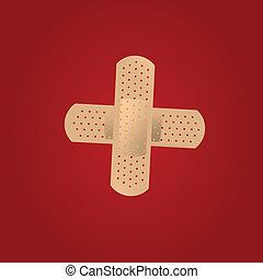 adhesive bandage - vector illustration of adhesive bandage