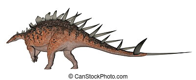 Kentrosaurus dinosaur with lots of spike on the back in...