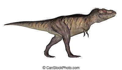 Tyrannosaurus dinosaur - Tyrannosaurus rex walking...