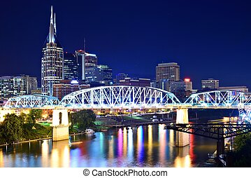 Downtown Nashville - Skyline of downtown Nashville,...