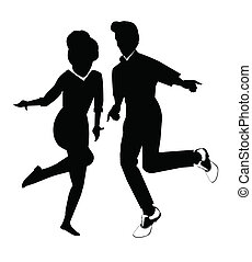 dancers - couple dancing in silhouette