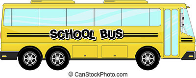school bus vector - yellow school bus isolated on white...