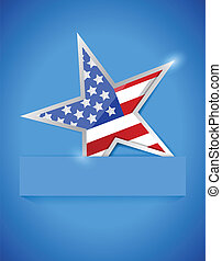 usa flag star illustration design