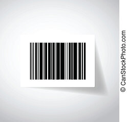ups barcode sticker illustration design over white