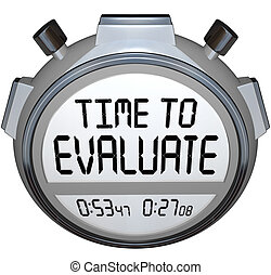 Time to Evaluate Words Stopwatch Timer Evaluation - The...