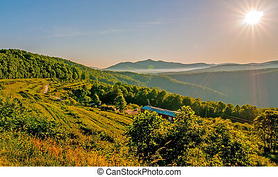 blue ridge parkway morning - Blue Ridge Parkway Scenic...
