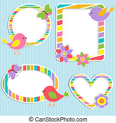 Set of vector cute frames