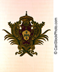 Coat of Arms in Lapa Church - Portuguese royal coat of arms...