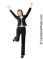 Asian business woman - Cheerful and relaxing Asian business...