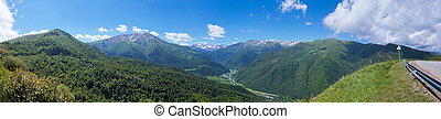 Beautiful mountain landscape, Caucasus, Russia. View of the...