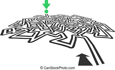 Cross maze - Creative design of cross maze