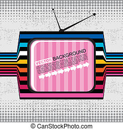 Retro grunge TV - vector illustration