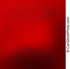 Elegant ornament frame design resource
