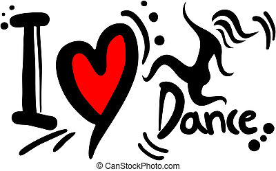 Love dance - Creative design of love dance