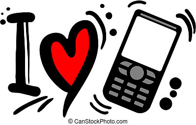 Love phone - Creative design og love phone