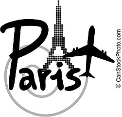 Travel Paris - Creative design of travel Paris