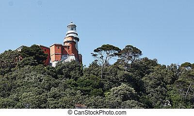 island of tino - lighthouse on the island of tino near la...