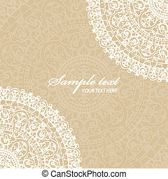 beige background with napkin - Vector beige background with...