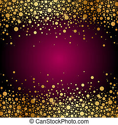 background with gold sparkles