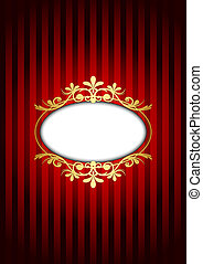 red and gold vintage background - Vector red and gold...